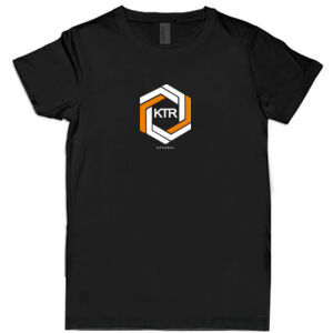 KTR Kids Black T-Shirt, DT Orange Thumbnail