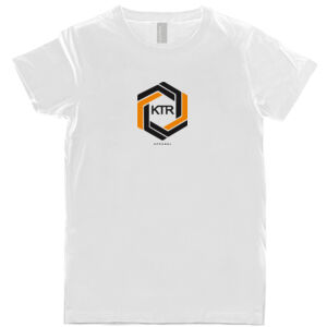 KTR Kids White T-Shirt, DT Orange Thumbnail